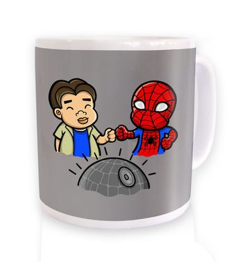 Spider-Man Death Star mug