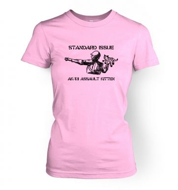 Standard Issue AK13 Assault Kitten womens t-shirt