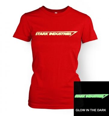 Stark Industries (glow in the dark) women's t-shirt