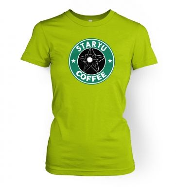 Staryu Coffee womens t-shirt