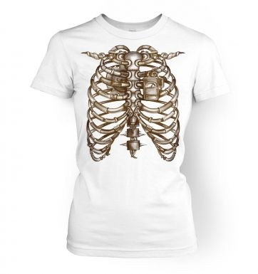 Steampunk Chest  womens t-shirt