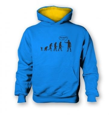 Stop following me! evolution kids contrast hoodie