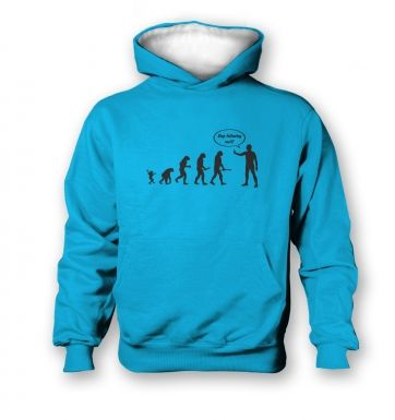 Stop following me! evolution   kids hoodie (contrast)