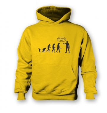 Stop following me! evolution  kids hoodie