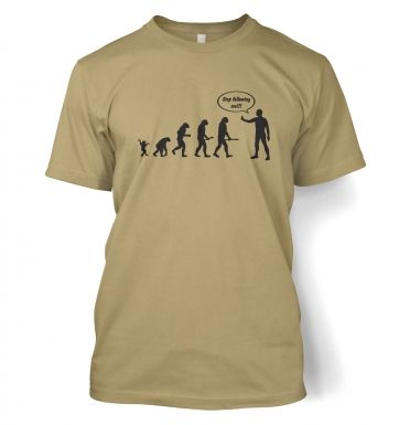 Stop following me! evolution t-shirt