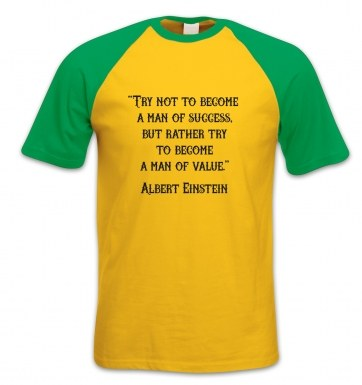 Success Quote Einstein short-sleeved baseball t-shirt