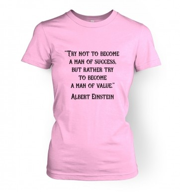 Success Quote Einstein women's t-shirt