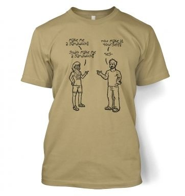 Sudo Make Me A Sandwich men's t-shirt