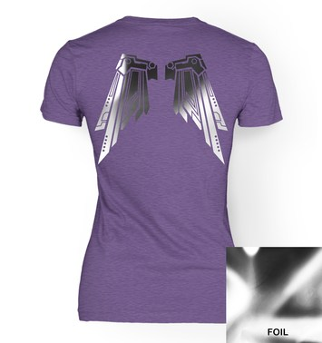 Super Shiny Robot Wings women's t-shirt