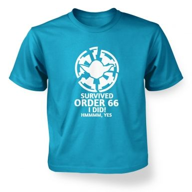 Survived Order 66 I Did Kids T shirt 
