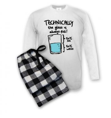 Technically The Glass Is Always Full pyjamas (men\'s)