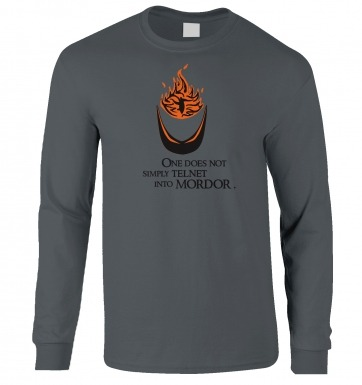 Telnet Into Mordor long-sleeved t-shirt