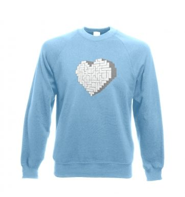 Shaped Brick Heart crewneck sweatshirt 