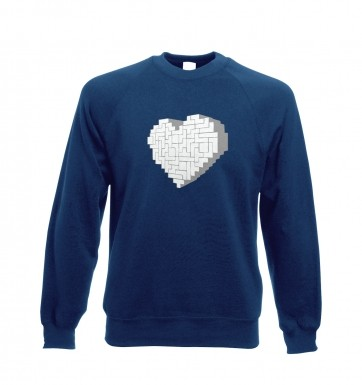 Shaped Brick Heart sweatshirt