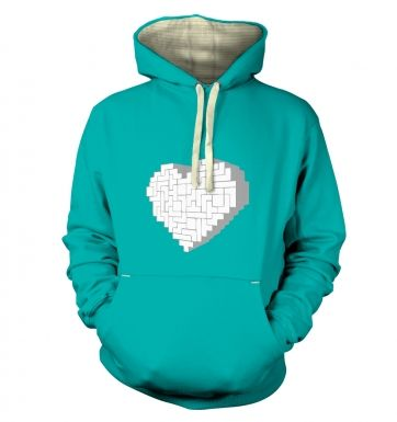 Shaped Brick Heart premium hoodie