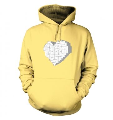 Shaped Brick Heart hoodie