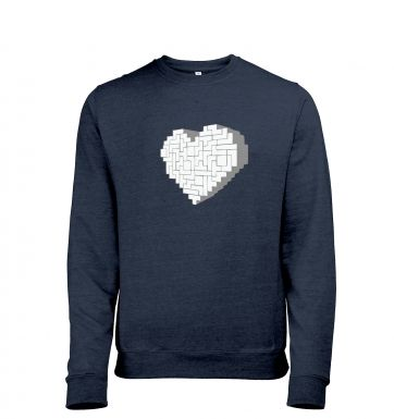 Shaped Brick Heart heather sweatshirt