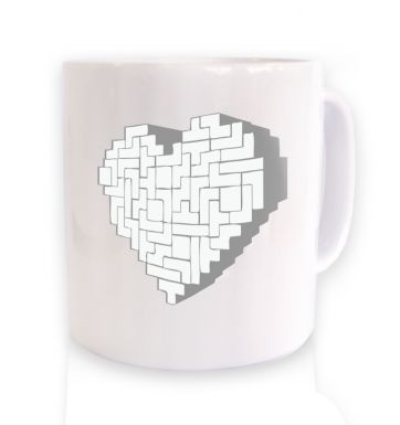 Shaped Brick Heart  mug