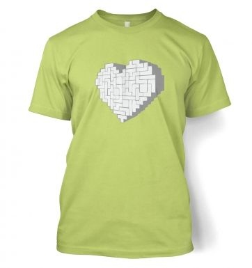 Shaped Brick Heart men's t-shirt