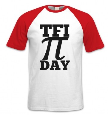 TFI Pi Day short-sleeved baseball t-shirt