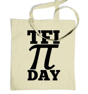 TFI Pi Day tote bag