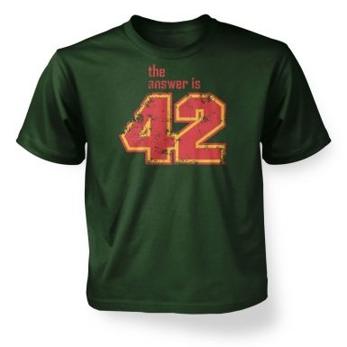 The Answer Is 42  kids t-shirt