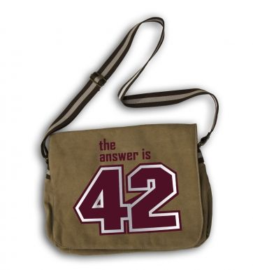 The Answer Is 42 (maroon) messenger bag