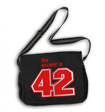 The Answer Is 42 (red) messenger bag