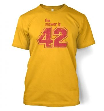 The Answer Is 42 men's t-shirt
