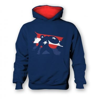 The Captain kids contrast hoodie  Inspired by Captain America & The Avengers