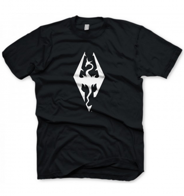 The Elder Scrolls Skyrim Dragon Symbol men's  - Official t-shirt