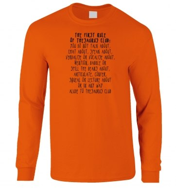 The First Rule Of Thesaurus Club long-sleeved t-shirt