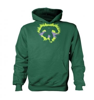 Mr Mean and Green   kids hoodie (contrast)