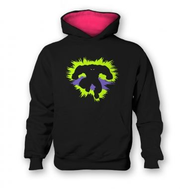 Mr Mean and Green Kids Contrast Hoodie