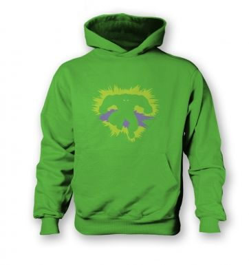 Mr Mean and Green  kids hoodie