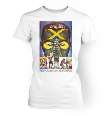 The Man With XRay Eyes  womens t-shirt