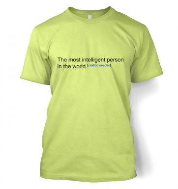 Most Intelligent Person In The World Wiki funny t-shirt