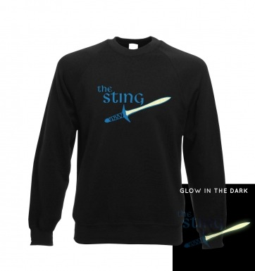 The sting glow in the dark sweatshirt