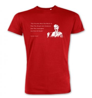 The Trouble With The World Bertrand Russel premium t-shirt