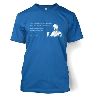 The Trouble With The World Bertrand Russel t-shirt
