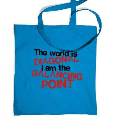The World Is Diagonal tote bag