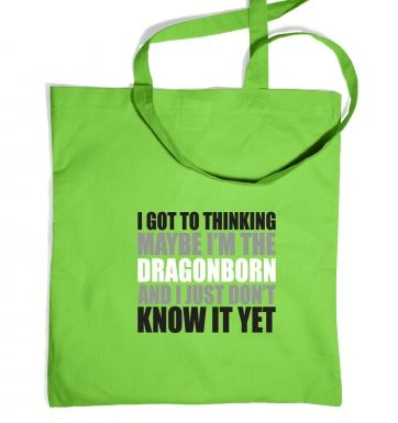 Thinking I'm The Dragonborn tote bag