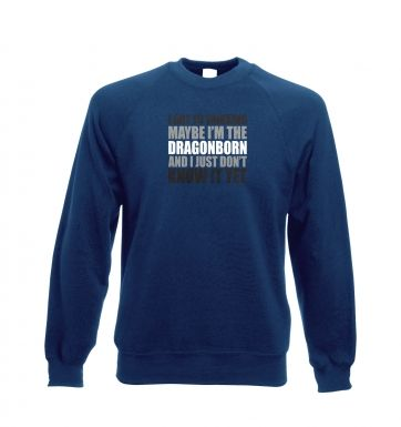 Thinking I'm The Dragonborn crewneck sweatshirt