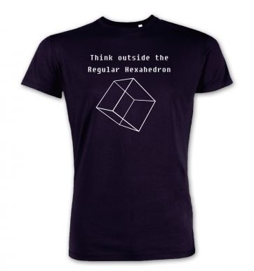 Think Outside The Regular Hexahedron premium t-shirt