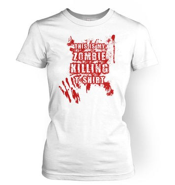 This Is My Zombie Killing women's t-shirt