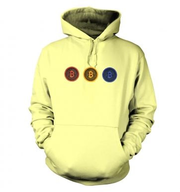Three Bitcoins Row hoodie