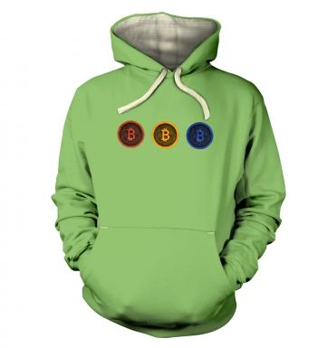 Three Bitcoins Row hoodie (premium)
