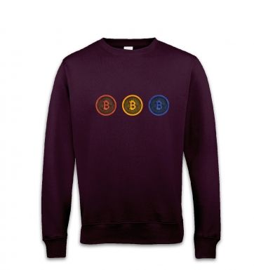 Three Bitcoins Row sweatshirt