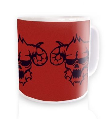 Three Black Demons Heads  mug