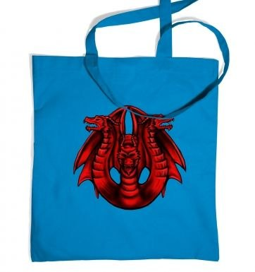 Three Headed Dragon tote bag